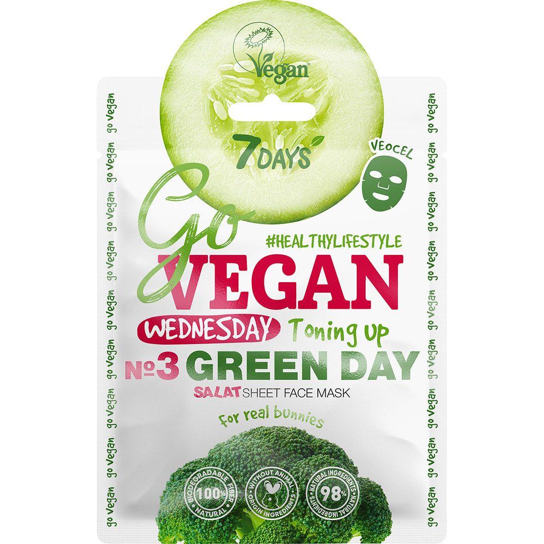 Masca de fata 7Days Go Vegan Wednesday Green Day 25g