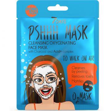Masca de fata cu efect de cleansing 7Days PshhhMask To Walk On Air cu carbune si complex Acid+ 25g