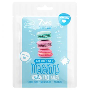 Masca de fata 7Days Candy Shop Macarons cu iaurt si afine 25g