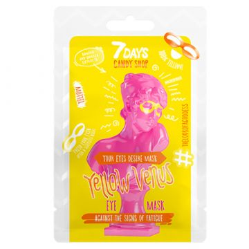 Masca pentru ochi 7Days Candy Shop Yellow Venus cu banana si vanilie 25g