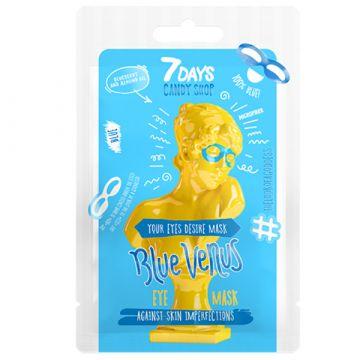 Masca pentru ochi 7Days Candy Shop Yellow Venus cu afine si migdale 25g
