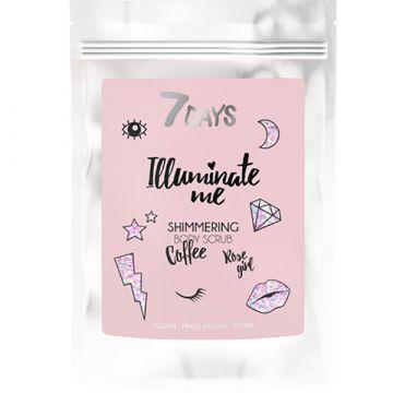 Скраб за тяло с блестящи частици 7Days Illuminate Me Miss Crazy с Кафе 200гр