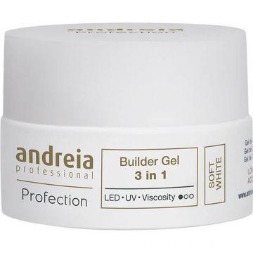 Gel constructie unghii Andreia Profection Gel Builder 3in1 Soft White 22g