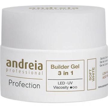 Gel constructie unghii Andreia Profection Gel Builder 3in1 Soft White 44g