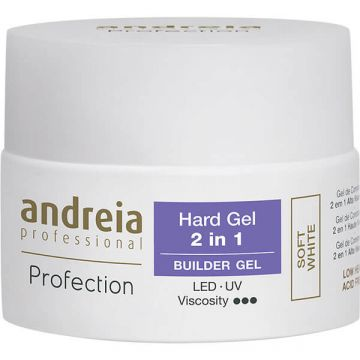 Gel constructie unghii Andreia Profection Hard Gel 2in1 Cover White 22g