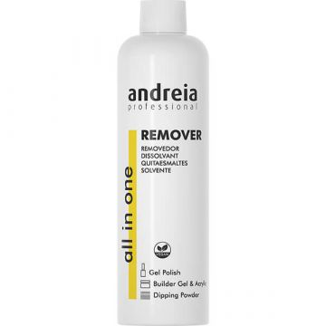 Dizolvant lac de unghii semipermanent Andreia All in One Remover 250ml