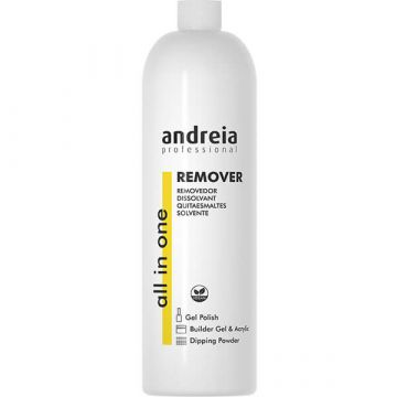 Dizolvant lac de unghii semipermanent Andreia All in One Remover 1000ml