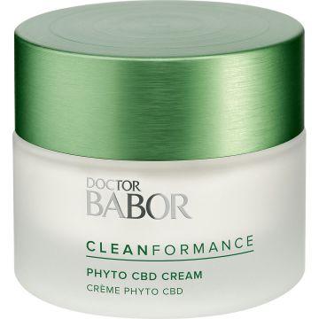 Крем за лице Babor Cleanformance Phyto CBD 24h с успокояващ и релаксиращ ефект  50мл