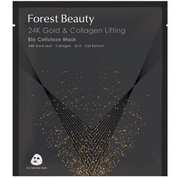 Маска за лице Forest Beauty 24k Nano Gold & Collagen Lifting Bio Cellulose 30мл