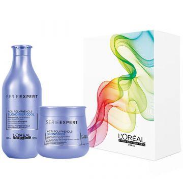 Set de par L'Oreal Professionnel Serie Expert Blondifier Spring Box Sampon 300ml+Masca de par 250ml