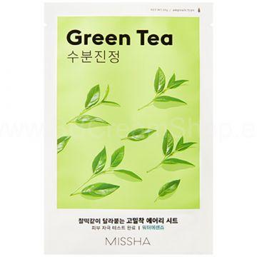 Masca de fata Missha Airy Fit cu ceai verde 19g