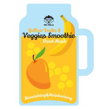Маска за лице Dr. Mola със смути от жълти плодове и зеленчуци 23мл