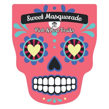 Masca de fata Dr. Mola Sweet Masquarade cu fructe roz si rosii 23ml