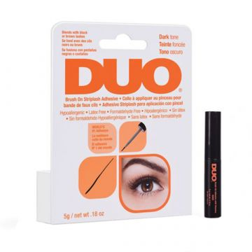 Adeziv gene false Duo Brush On cu pensula negru 5g