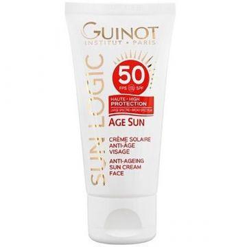 Crema de fata Guinot Age Sun Creme cu protectie solara SPF50 50ml