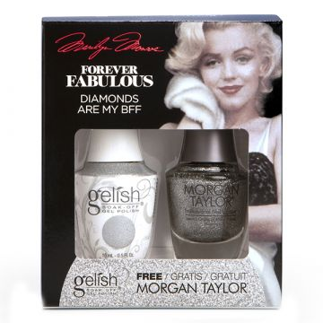 Set Lac de unghii semipermanent Gelish 15ml si Lac de unghii saptamanal Morgan Taylor 15ml Diamonds Are My BF