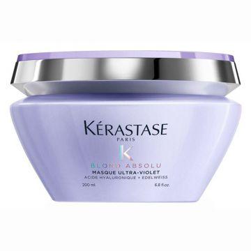 Masca de par Kerastase Blond Absolu Masque Ultra-Violet pentru neutralizarea tonurilor de galben 200ml