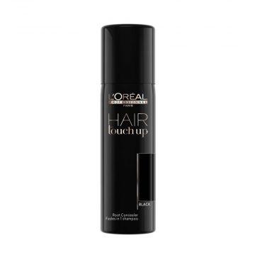 Професионален спрей коректор  за покриване на бели коси L'Oréal Professionnel Hair Touch Up Black, 75 мл