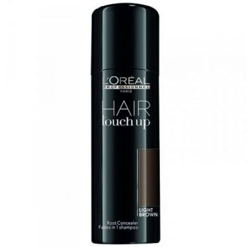 Spray corector profesional pentru acoperirea firelor albe de par L'Oreal Professionnel Hair Touch Up Light Brown 75 ml