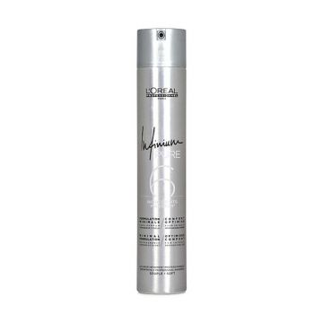 Fixativ profesional  L'Oréal Professionnel Infinium Pure  Soft cu fixare lejera, 500 ml