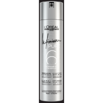 Fixativ profesional pentru mentinere puternica L'Oréal Professionnel Infinium Pure Strong, 300ml
