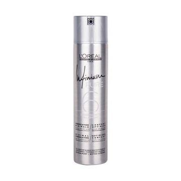 Fixativ profesional  L'Oréal Professionnel Infinium Pure Extra Strong cu fixare extra-puternica, 500 ml