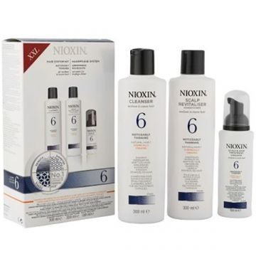 Set de par Nioxin System 6 pentru par tratat chimic 2x150ml+50ml