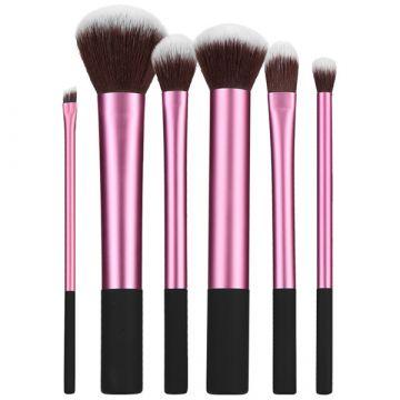 Комплект  6 четки Tools4Beauty розов&черен