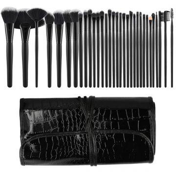 Комплект  32 четки Tools4Beauty черен c калъф