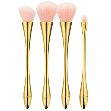 Комплект  4 четки Tools4Beauty със златиста метална дръжка