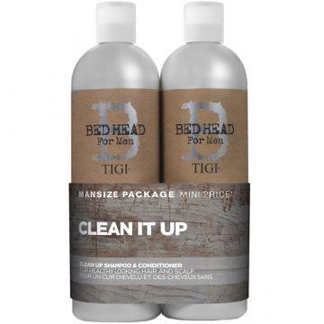 Комплект Tigi Bed Head Clean It UP For Men Шампоан 750 мл + Балсам 750 мл