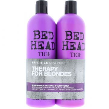 Set Tigi Bed Head Dumb Blonde Sampon 750ml+Balsam 750ml