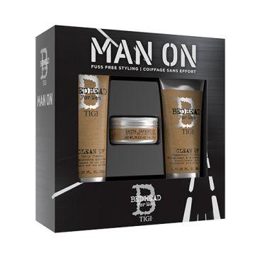 Set Tigi Bed Head for Men Man On Sampon 250ml+Balsam de par 200ml+Ceara de par 85g