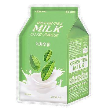 Masca de fata Apieu Green Tea Milk Calmare 21g
