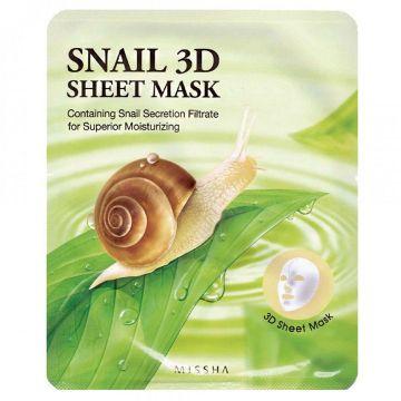 Masca de fata Missha Snail 3D 23g