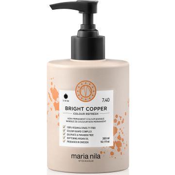Masca de par nuantatoare Maria Nila Colour Refresh Bright Copper 7.40 300ml