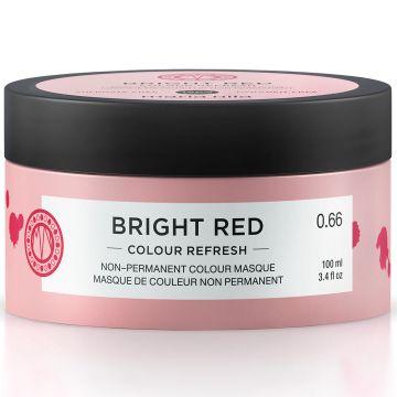 Masca de par nuantatoare Maria Nila Colour Refresh Bright Red 0.66 100ml