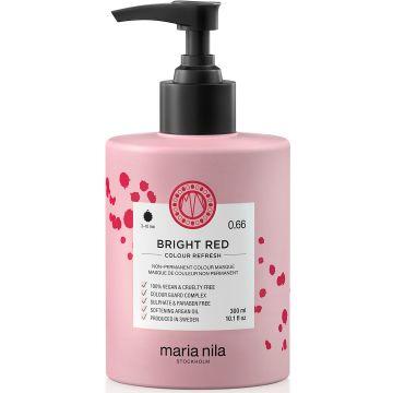 Masca de par nuantatoare Maria Nila Colour Refresh Bright Red 0.66 300ml