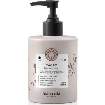 Masca de par nuantatoare Maria Nila Colour Refresh Cacao 6.00 300ml