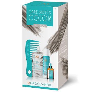 Set de par Moroccanoil Care Meets Color Platinum