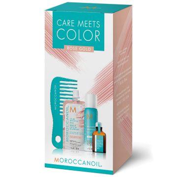 Set de par Moroccanoil Care Meets Color Rose Gold