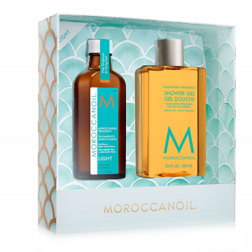 Set de ingrijire Moroccanoil Everyday Escape Hair&Body Light 100ml+250ml