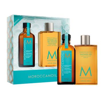 Set de ingrijire Moroccanoil Everyday Escape Hair&Body Original 100ml+250ml