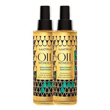 Комплект за коса Matrix Oil Wonders Amazon за непокорна коса 2x150мл