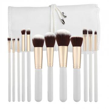 Set 12 pensule Tools4Beauty Mimo Kabuki White