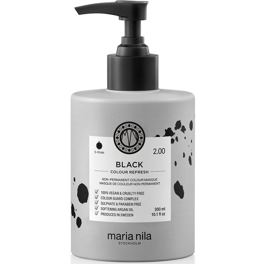 Masca par nuantatoare Maria Nila Colour Black 2.00 300ml